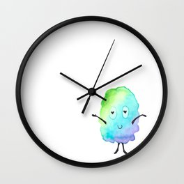 Heart Eyes Watercolor Monster! Wall Clock