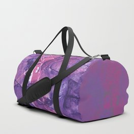 Smokey Ultra Violet and Pink Marble Duffle Bag