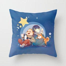 Kirk&Spock tea time Throw Pillow
