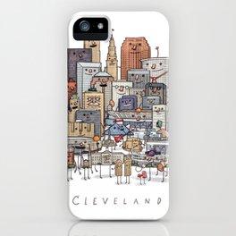 Cleveland Skyline group portrait iPhone Case