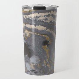 Fluid Gold Concrete Travel Mug