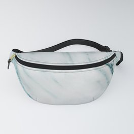 Teal Streaked Marble Fanny Pack