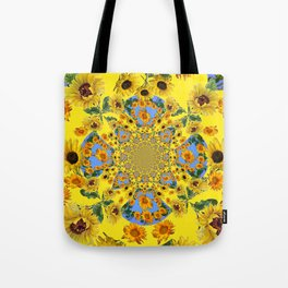 YELLOW SUNFLOWERS STORY BOOK Tote Bag