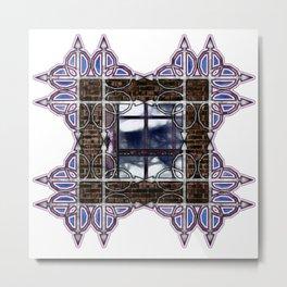 Dark Sky Window Metal Print