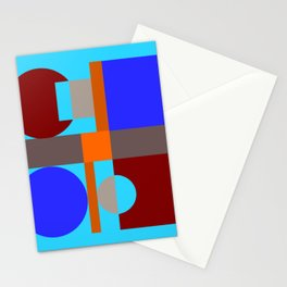 Minimalist geometry with light blue background Stationery Cards