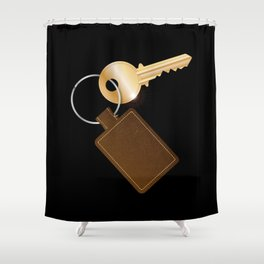 Leather Key Fob With Key Shower Curtain