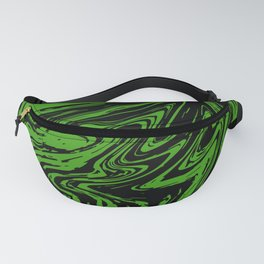 Green marble pattern Fanny Pack