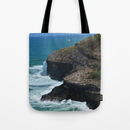 Ocean from Kilauea Lighthouse Tote Bag