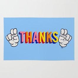 """Thanks"" Rug"