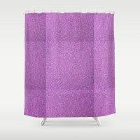 glitter Shower Curtains featuring Glitter by mailboxdisco