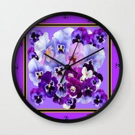 PANTENE PURPLE PANSY GARDEN   DECORATIVE ART DESIGN Wall Clock