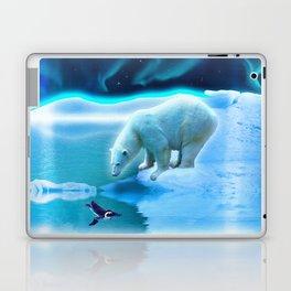 The Encounter - A Polar Bear & Penguin Fantasy Laptop & iPad Skin