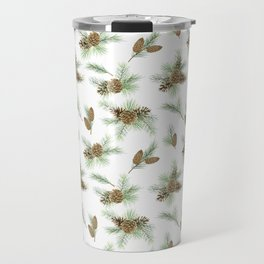 pine branches and cones pattern Travel Mug