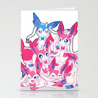 sylveon Stationery Cards featuring Sylveon Pile by SilviShinyStar