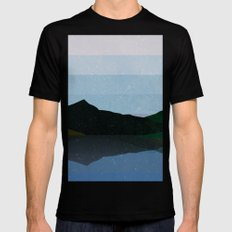 Twilight Calm Over Water Mens Fitted Tee Black MEDIUM