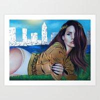 lana del rey Art Prints featuring DEL REY  by CARLOSGZZ