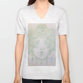 A woman of Crystals Unisex V-Neck