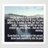 gatsby Art Prints featuring Gatsby by Alicia Gomez