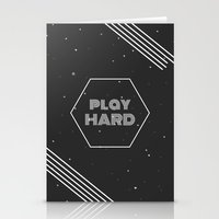 die hard Stationery Cards featuring Play Hard by eARTh