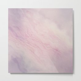 Purple Marble Paint Metal Print
