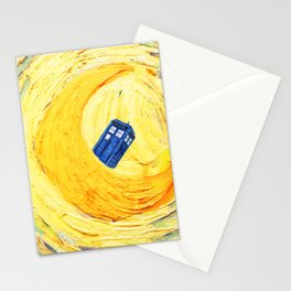 Tardis Flying With Circle Stationery Cards
