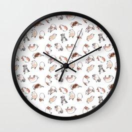 Tumbling guinea pigs Wall Clock