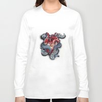 cthulu Long Sleeve T-shirts featuring Cthulhu Heart by lunaevayg