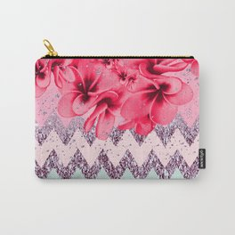 Plumeria Silver Dust Carry-All Pouch