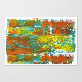 Palette Knife Daubs Orange & Blue Canvas Print