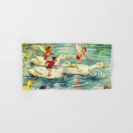 """""""Duck Racing in the Pond"""" by Margaret Tarrant Hand & Bath Towel"""