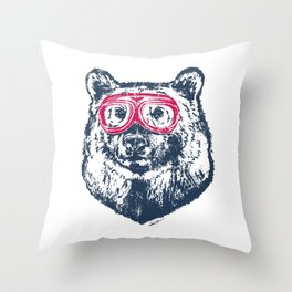 Bad bear Throw Pillow
