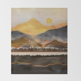 Pure Wilderness at Dusk Throw Blanket