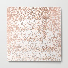Elegant pink rose gold glam confetti Metal Print