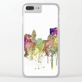 Fort Wayne, Indiana Skyline Clear iPhone Case