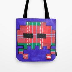 Tartan Invader #1 Tote Bag