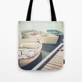 Docked Rowboats Tote Bag