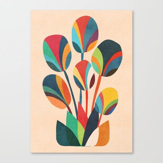 Ikebana - Geometric flower  Canvas Print