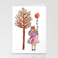 eugenia loli Stationery Cards featuring Little Loli by Adela Pakke