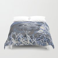 guinea pig Duvet Covers featuring blue guinea pig by MehrFarbeimLeben
