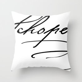Arthur Schopenhauer Throw Pillow