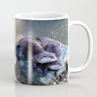otters Mugs featuring Otters by Shalisa Photography