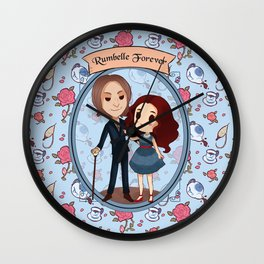 Rumbelle for ever  Wall Clock