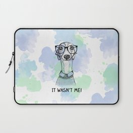 Greyhound with glasses Laptop Sleeve