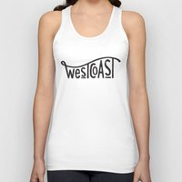 west coast Tank Tops featuring West Coast by cabin supply co