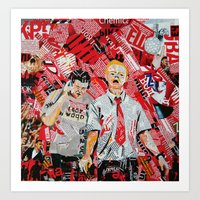 shaun of the dead Art Prints featuring Shaun of the dead by Lanka69