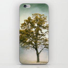 Bleached Sage Green Cotton Field Tree - Landscape  iPhone Skin