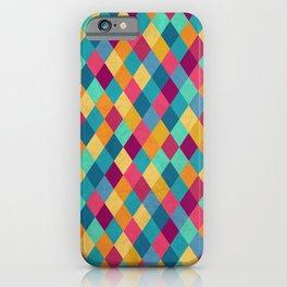 Circus Multicolor Rhombuses iPhone Case
