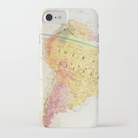 world maps iPhone & iPod Cases featuring Maps by Caroline Mint