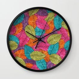 Let the Leaves Fall #13 Wall Clock