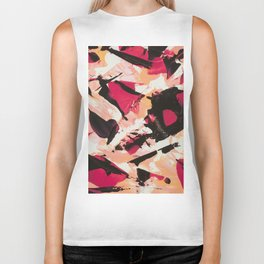 Bloom where you are planted | pink black coral abstract acrylic painting Biker Tank